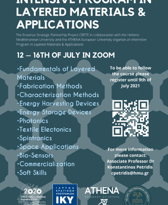 Intensive Course in Layered Materials and Applications